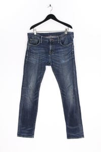 TOMMY HILFIGER - used look slim-jeans mit logo-patch - W36