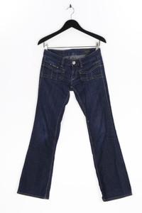 Herrlicher - used look bootcut-jeans mit logo-patch - W28