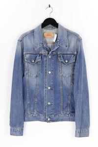 LEVI STRAUSS & CO. - jeans-jacke im used look mit logo-badge - M