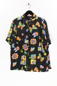Citylife - seiden-bluse mit print - D 46