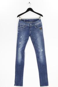 G-STAR RAW 3301 Denim - distressed skinny-jeans mit logo-patch - W30