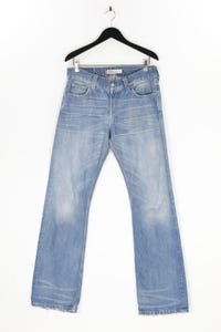 Levi´s - used look bootcut-jeans mit logo-patch - W33