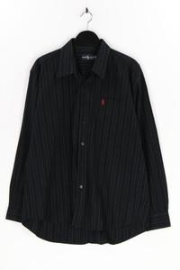 RALPH LAUREN - gestreiftes hemd aus baumwolle mit logo-stickerei - XXL