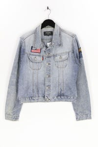 HIGHLAND - jeans-jacke mit patches - S