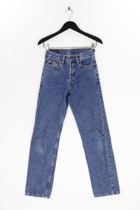Levi´s - used look straight cut jeans mit logo-patch - XS