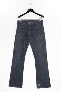 Levi´s - used look straight cut jeans mit logo-patch - W33