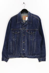 LEVI STRAUSS & CO. - jeans-jacke im used look mit logo-badge - L
