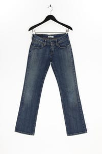 Levi´s - used look straight cut jeans mit logo-patch - W28