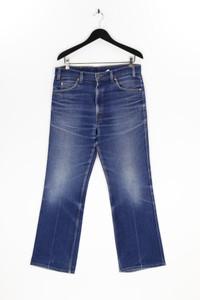 LEVI STRAUSS & CO. - used look straight cut jeans mit logo-applikation - W35
