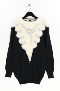 Powynig bluhmod - strick-pullover mit angora mit schmuckstein-applikation - D 42