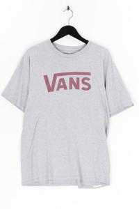 vans - t-shirt aus baumwoll-mix mit logo-print - L
