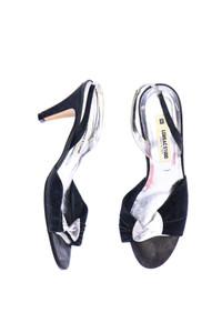 LORBAC - leder-sandaletten mit metallic-effekt -