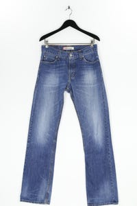 Levi´s - used look straight cut jeans mit logo-patch - W32