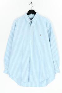 RALPH LAUREN - gestreiftes button-down-hemd mit logo-stickerei - XXL