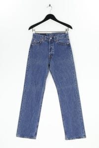 Levi´s - used look straight cut jeans mit logo-patch - W29