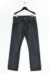 LEVI STRAUSS & CO. - used look straight cut jeans mit logo-patch - W34