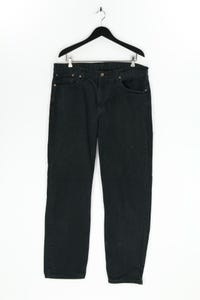 LEVI STRAUSS & CO. - used look straight cut jeans mit logo-patch - W38
