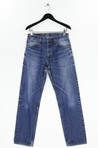 LEVI STRAUSS & CO. - used look straight cut jeans mit logo-patch - W33