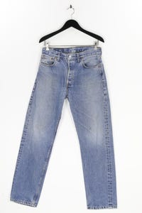 Levi´s - used look straight cut jeans mit logo-patch - M