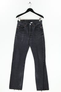 Levi´s - used look straight cut jeans mit logo-patch - W31