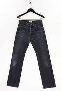 Levi´s - used look straight cut jeans mit logo-badge - XS