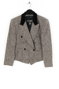 ESCADA MARGARETHA LEY - zweireiher-blazer aus schurwolle mit samt - D 42