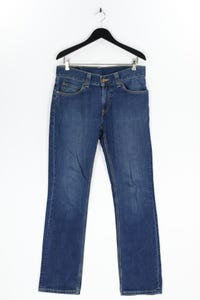Levi´s - used look straight cut jeans mit logo-patch - W34
