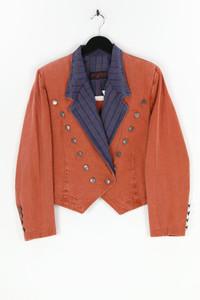 JUSTIFIED - jeans-blazer mit reverskragen mit karo-muster - M