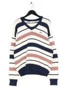 LACOSTE - oversize-baumwoll-strick-pullover mit v-neck - 52