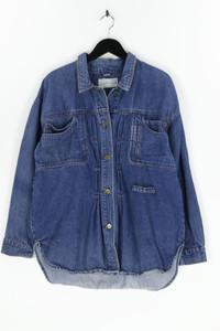 Sergio Valente - oversize-jeans-jacke mit aufgesetzten taschen - L