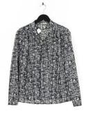 progres - schluppen-bluse mit print - M