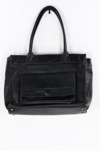 PICARD - tote bag/shopper-tasche aus leder mit logo-prägung -