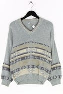 C&A - muster-pullover aus baumwoll-mix - S