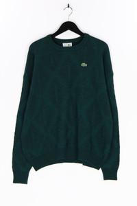 LACOSTE - rundhals-pullover aus woll-mix mit logo-patch - L