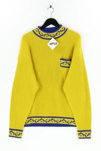 VIRUS SPORTSWEAR - strick- rundhals-pullover mit intarsia knit-muster - L