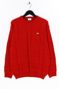 LACOSTE - strick- rundhals-pullover aus woll-mix, mit logo-patch - 50