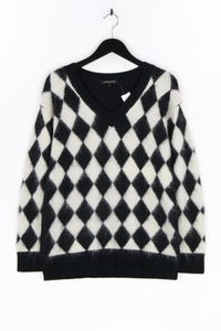 Jaeger - strick-pullover aus woll-mix, mit mohair - M