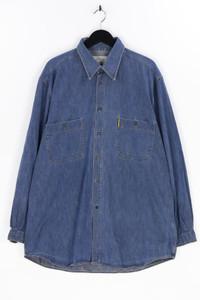 ARMANI JEANS - jeans-hemd mit logo-patch - XXL