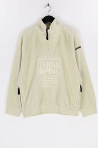 THINK PINK - fleece- pullover mit logo-stickerei - M