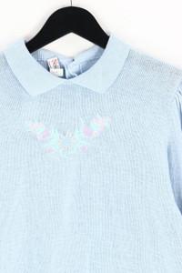 Novo club - polo-pullover mit stickereien - M