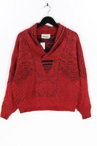CARLO COLUCCI - strick-pullover aus woll-mix mit batwing-ärmeln - M