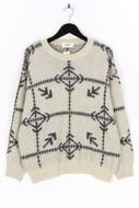 BOSS HUGO BOSS - rundhals-pullover aus woll-mix mit intarsia knit-muster - 52