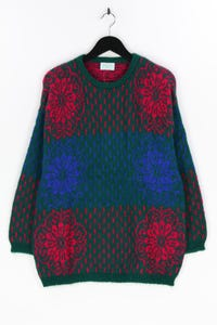 BENETTON - muster-strick-pullover mit mohair - D 46
