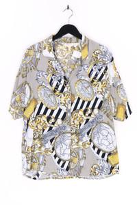 Valentine FASHION - hemd-bluse mit kurzem ärmel mit print - D 42