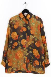 Citylife - seiden-bluse mit blumen-print - D 38