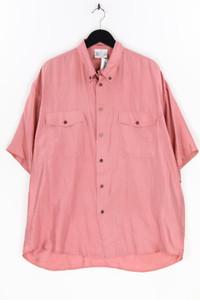 BARONE ROSSO - kurzarm-hemd mit button-down-kragen aus seide - XL