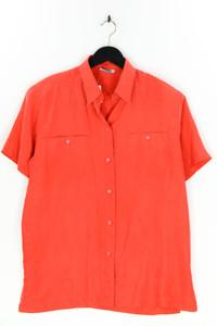 DeVille - kurzarm-seiden-bluse mit aufgesetzten taschen - D 42