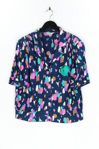 MARKWALD - hemd-bluse mit kurzem ärmel mit raffungen - D 46