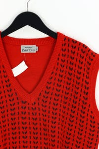 matinique PART TWO - pullunder aus woll-mix, mit intarsia knit-muster - L