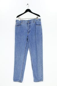 BLUE  SEA JEANS - straight cut jeans mit logo-patch - 54